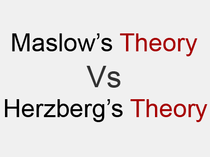 compare maslow and herzberg theory