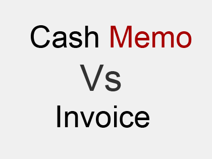 difference between cash memo and invoice