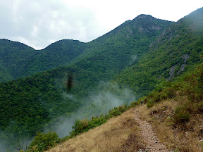 Montée au Col du Razet (avec un insecte qui s'invite sur la photo)