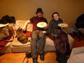 Stirling et Alex et leurs deux chats