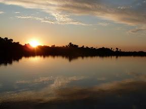 Coucher de soleil à Esteros del Iberà