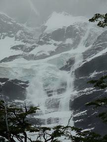 Avalanche au glacier Frances