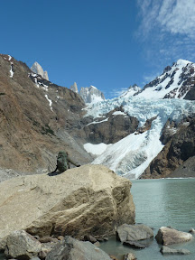 Devant le glaciar Piedras Blancas