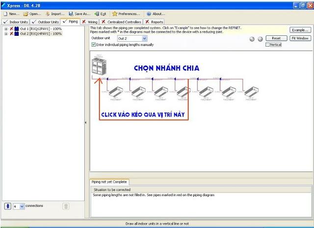 Phần mềm tính chọn thiết bị Daikin và đường ống VRV