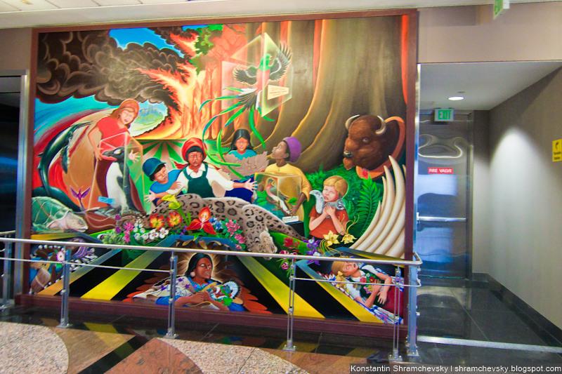 USA Colorado Denver International Airport Murals Conspiracy Theory New World Order One-World Government Freemasons США Колорадо Денвер Международный Аэропорт Картины Фрески Теория Заговора Новый Мировой Порядок Мировое Правительство Масоны Вольные Каменщики