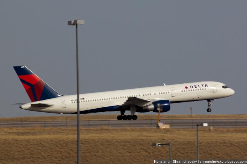 USA Colorado Denver International Airport Delta Airlines Boeing 757-232 N624DL США Колорадо Денвер Международный Аэропорт Дельта Эйрлайнз Боинг 757-232