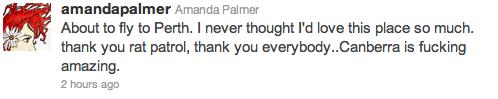 amanda palmer tweet