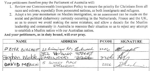 bigoted nutbag petition