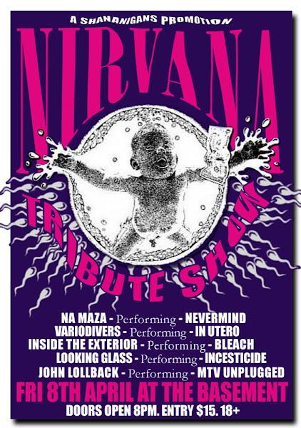 nirvana tribute show poster