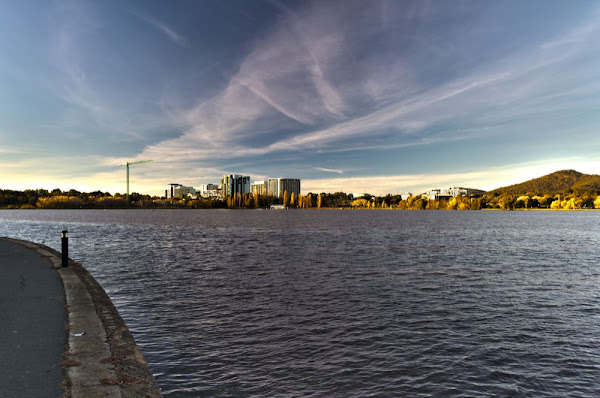 civic and lake burley griffin,