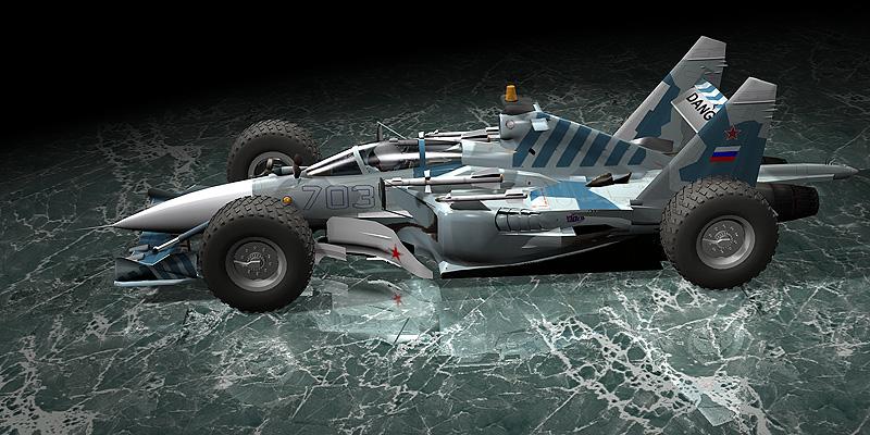 болид Sukhoi F1 car 1