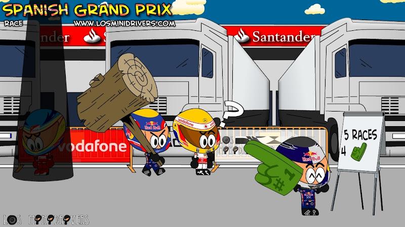 4 пальца из 5-ти гонок для Себастьяна Феттелья после Гран-при Испании 2011 Los MiniDrivers