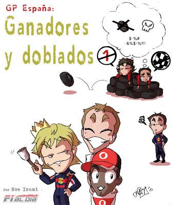 Победители и проигравшие анимешный рисунок Noe Izumi по Гран-при Испании 2011