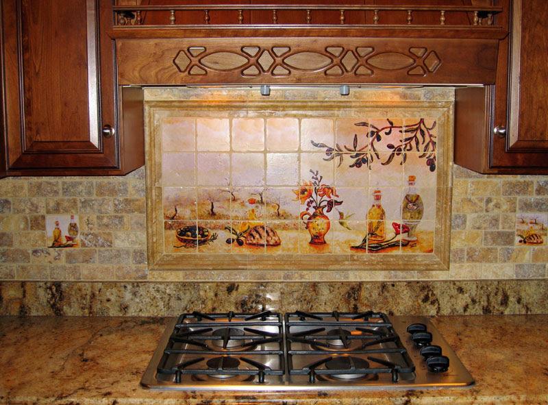 Кухонный декор кафель