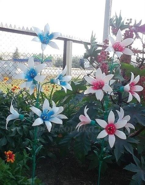 Поделки из пластиковых бутылок своими руками цветы видео
