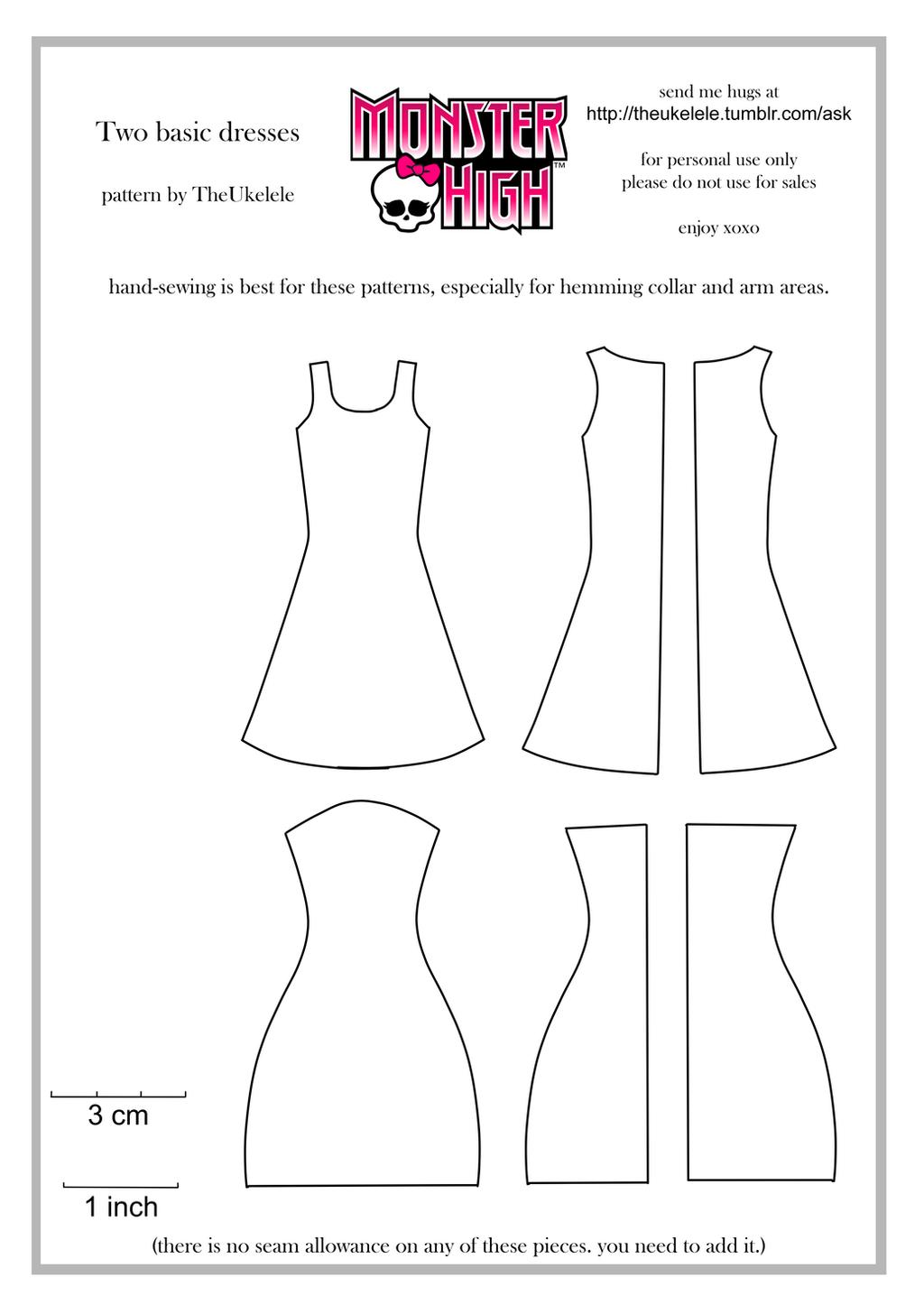 Как сшить платье на куклу пошаговая инструкция