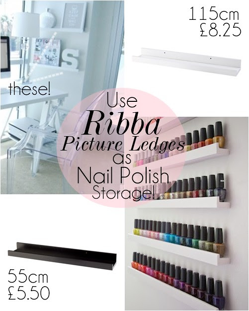 宜家_Ribba_ledge_nail_polish_storage