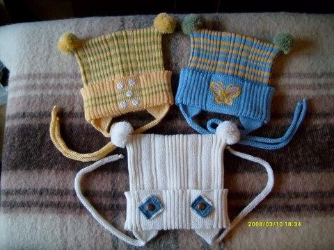 Вязание детской шапочки на машине 41