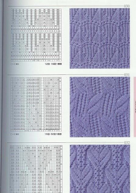 Узор по вязанию из японских журналов