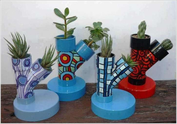 Поделки из пластиковых труб для сада и огорода и описание