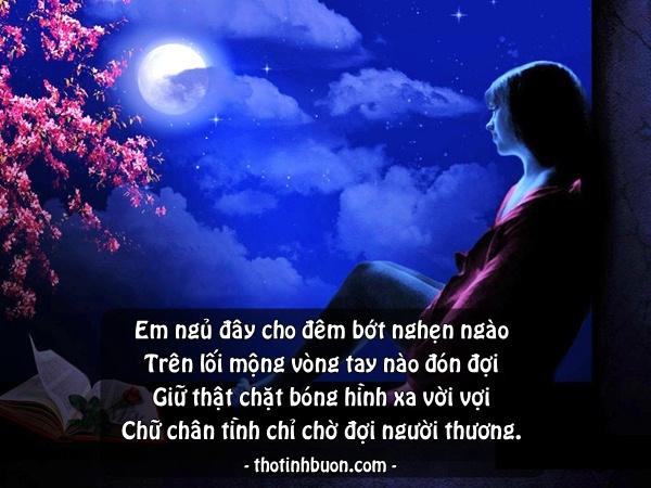 thơ 4 câu đêm nhớ anh yêu của cô gái
