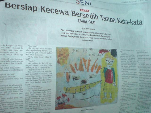 Cerpen Karya Putu Wijaya di Kompas, 17 Juli 2011