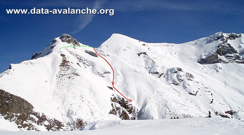 Avalanche Bauges, secteur Mont de la Coche - Photo 1