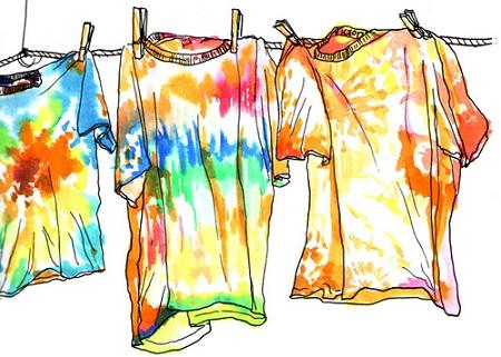camisetas tingidas tie dye