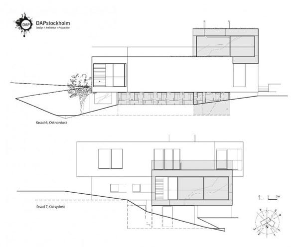 Вила Мидгард 25 800x661, адаптирани на труден терен: Вила Мидгард в Стокхолм