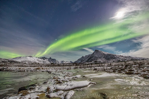 Northern lights, north of the Arctic Circle, Norway. Photographer Benny Høynes
