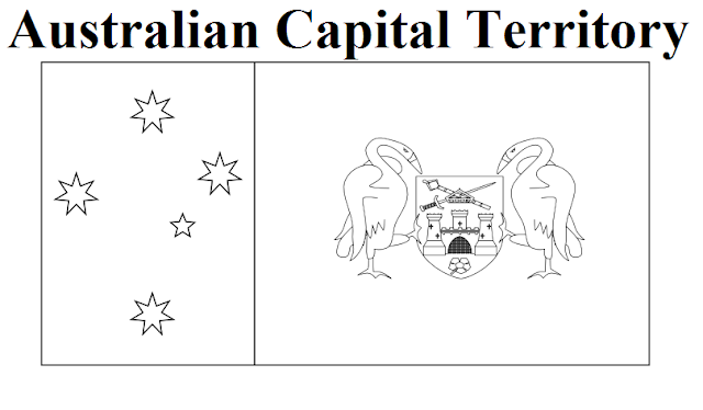 Australian Capital Territory Flag Coloring Page