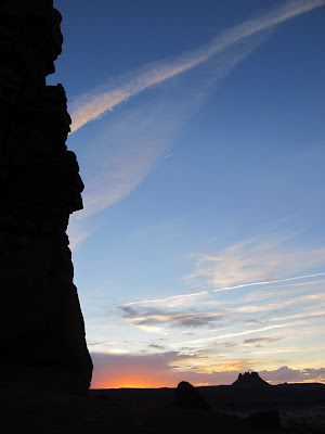 Sunset viewed alongside Standing Rock