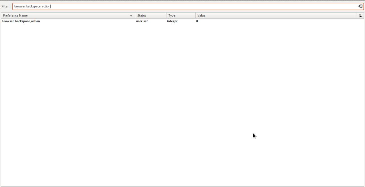Cómo activar la tecla de Backspace/Retroceso en Firefox