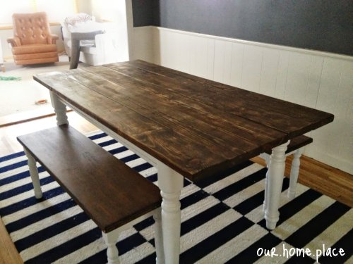 pretty diy farmhouse table