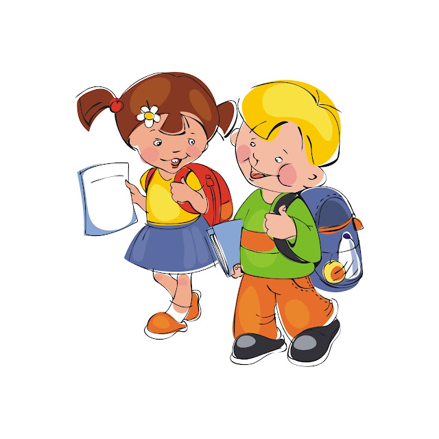 Tranh Mầm non em bé đi học.