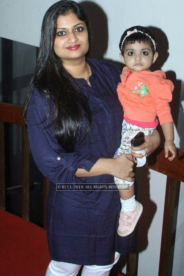 Geethu and Aaradhana during the music launch of Rajeev Ravi's upcoming movie Njan Steve Lopez in the city.