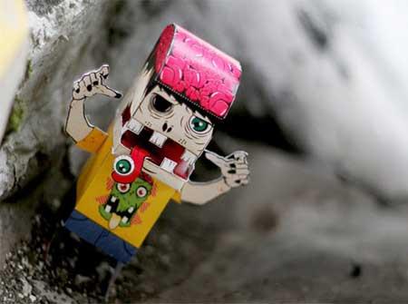 Jombi Zombie Paper Toy