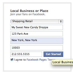Fill Out Business info in Facebook