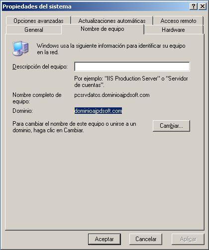Obtener datos necesarios para agregar equipos cliente a un dominio Windows
