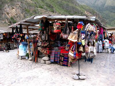 Market in Ollantaytambo Peru