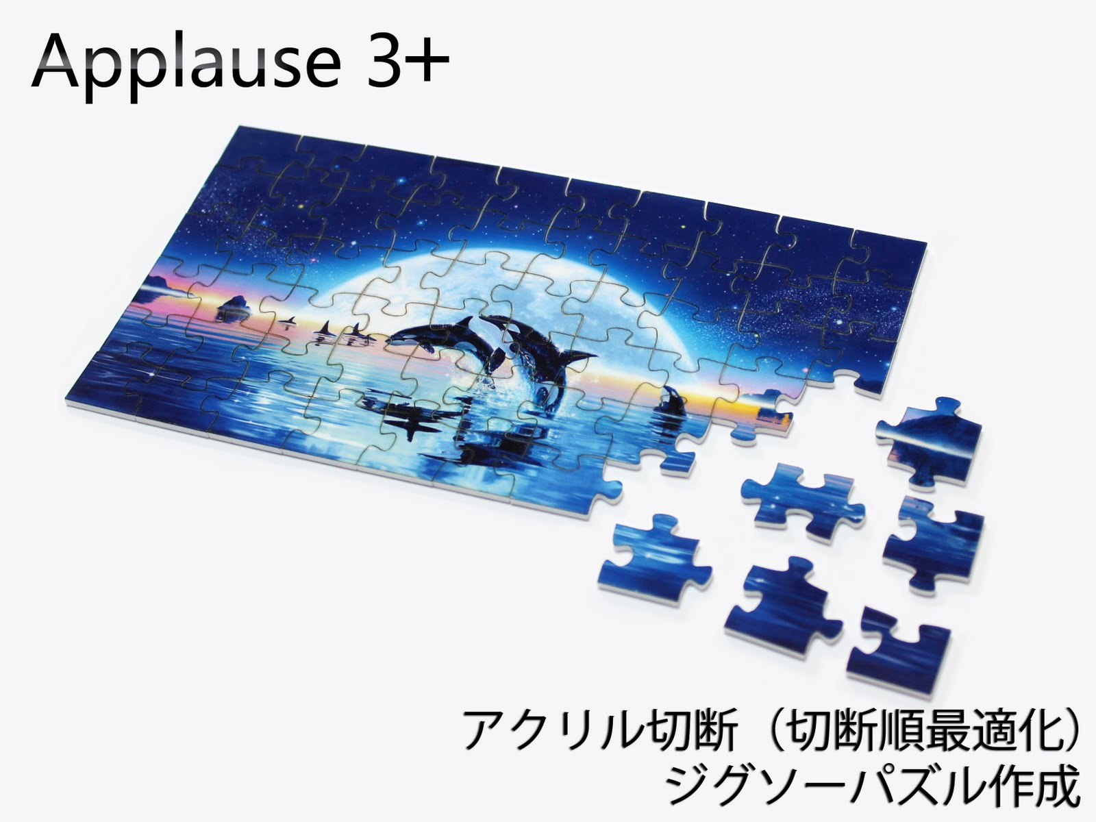 Applause 3+レーザー加工機:ジグソーパズル加工写真