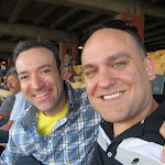 Larry & I pretending to be into sports.
