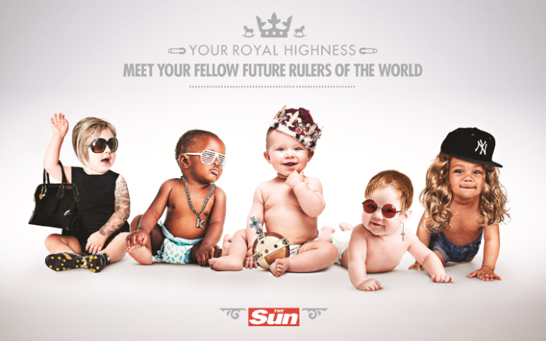 UK Newspaper's Celebrate The Royal Baby With Fun Print Ads