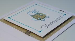 Sini-keltainen vauvakortti