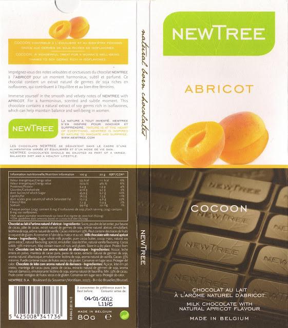 tablette de chocolat lait gourmand newtree abricot cocoon