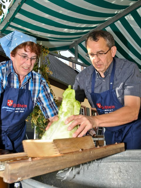 Kraut hobeln für Krautsalat oder für Sauerkraut