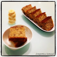 Banana Cake Slices - No butter used...