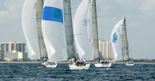 sailing in Wirth Munro Memorial Race- Sailfish Club, Palm Beach, FL