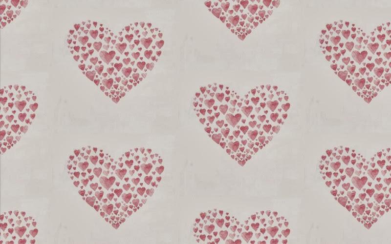 Tienda online telas papel papel pintado con corazones - Papeles pintados romanticos ...