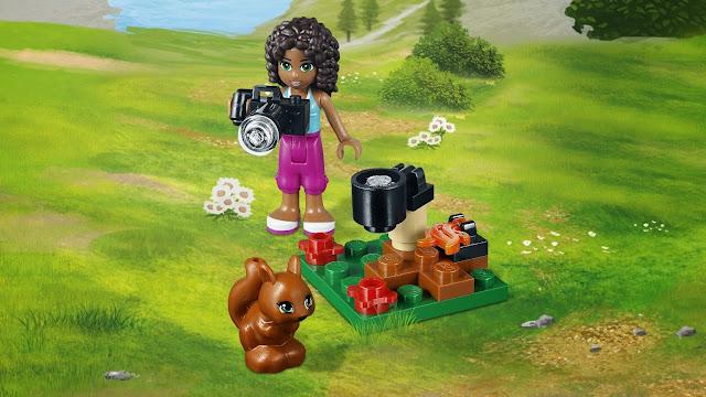 Cô bé Andrea và những chi tiết sinh động trong bộ xếp hình Lego Friends 41031 Nhà Trên Núi Của Andrea